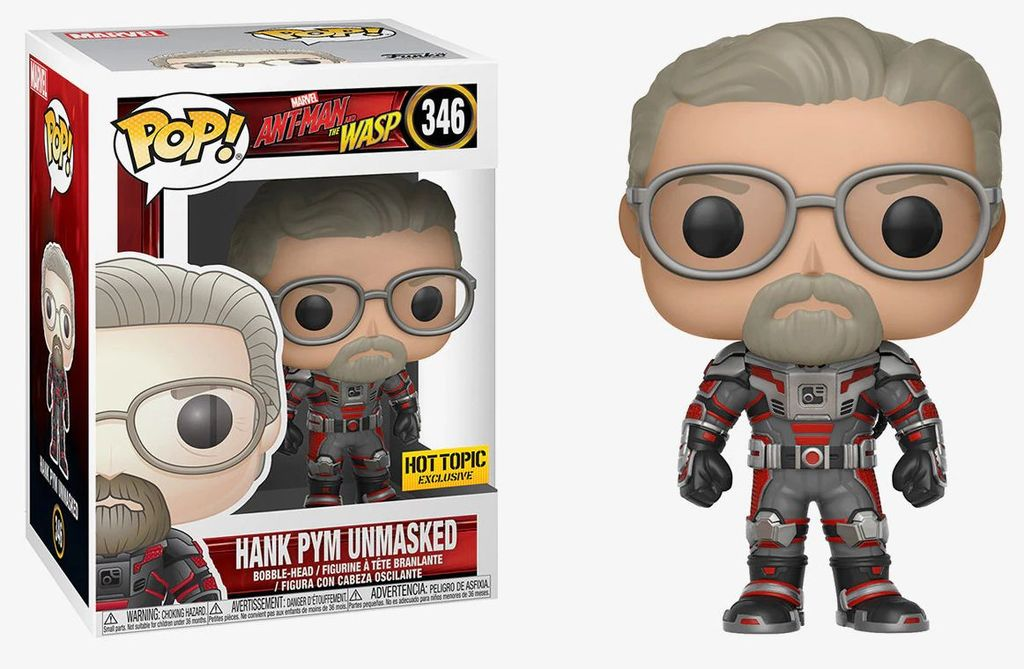 Funko POP! Marvel: Ant-Man and The Wasp - Hank Pym Unmasked
