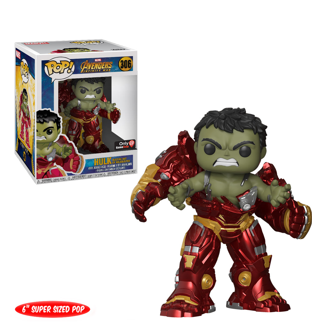 Funko POP! Avengers Infinity War: Hulk busting out of Hulkbuster (Game Stop)