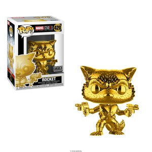 Funko POP! Marvel: Rocket Gold Chrome (FYE)