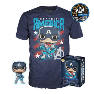 Funko POP! Marvel: Avengers Endgame - Captain America POP! & Shirt