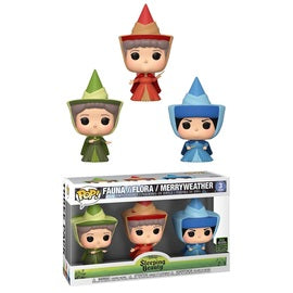 Funko POP! Disney: Sleeping Beauty - Fauna/ Flora/ Merryweather (2019 Spring Convention)