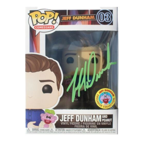 Funko POP! Comedians: Jeff Dunham And Peanut (Jeff Dunham Exclusive)(Signed)