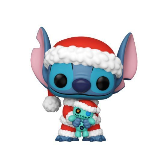 Funko POP! Disney: Santa Stitch with Scrump (Hot Topic)