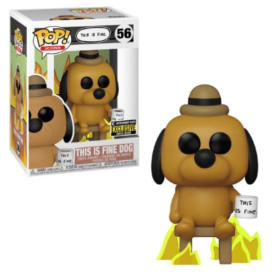 Funko POP! Icons: This Is Fine - This Is Fine Dog (Entertainment Earth)