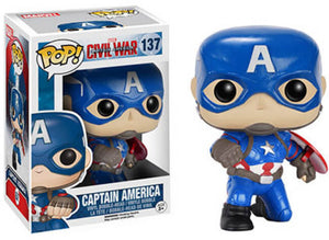 Funko POP! Marvel Captain America Civil War - Captain America (GameStop)