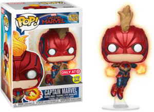 Funko POP! Marvel: Captain Marvel - Captain Marvel GiTD (Target)