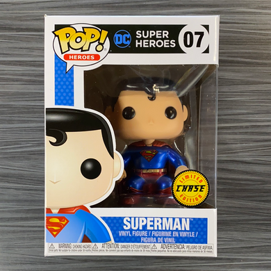 Funko POP! Heroes: DC Super Heroes - Superman [Metallic] [Black Box] (Chase)