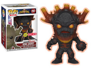 Funko POP! Games: Marvel Contest Of Champions- King Groot(Target)(Glows In The Dark)