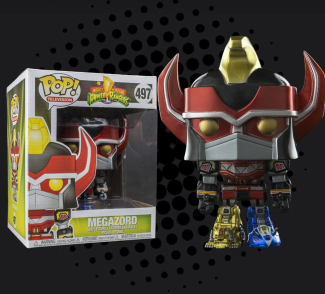 Funko POP! Television: Power Rangers - Megazord (AAA Anime) (Metallic)