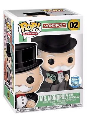 Funko POP! Board Games: Monopoly - Mr.Monopoly with Money Bag(Funko)