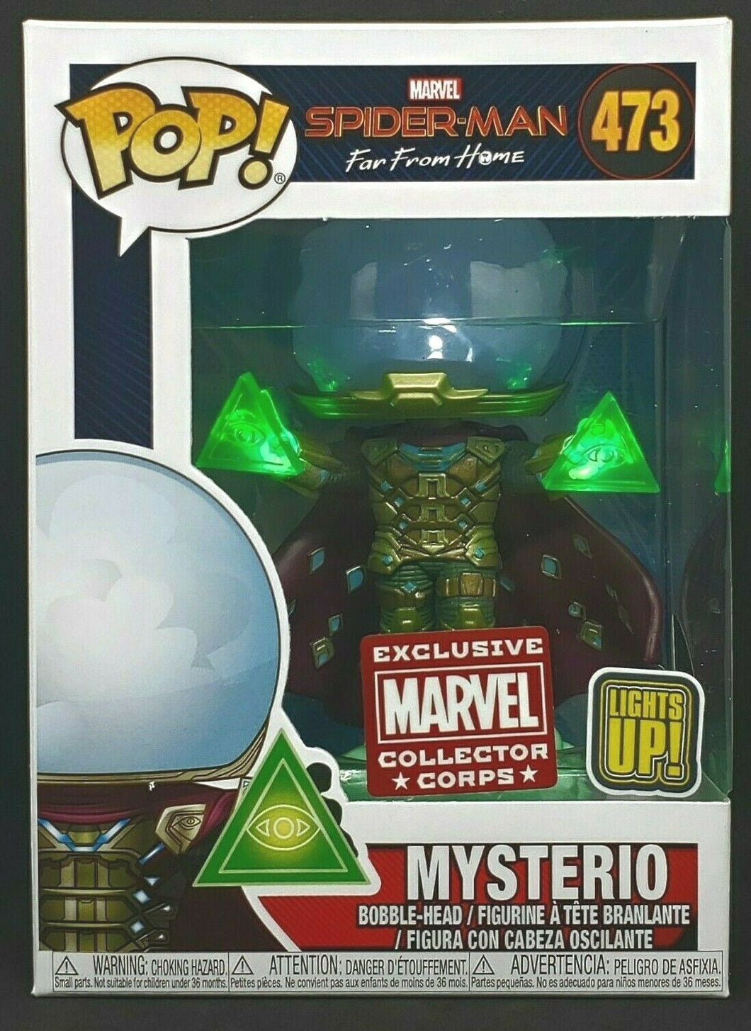 Funko POP! Marvel Spider-Man Far from Home - Mysterio (Collector Corps) (Light Up)