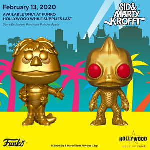 Funko POP! Television: Hollywood Walk Of Fame - Sleestak & H.R. Pufnstuf Set (Both Signed)