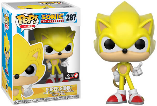 Funko POP! Games: Sonic the Hedgehog - Super Sonic (Gamestop)