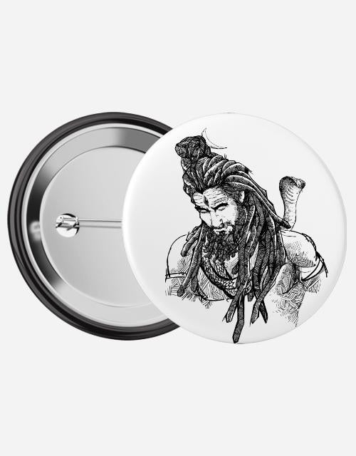 Adiyogi Pin Badge - Angi | Tamil T-shirt | Chennai T-shirt