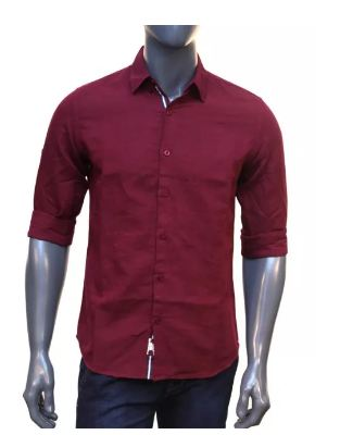 Apple Maroon Full Sleeve Shirt
