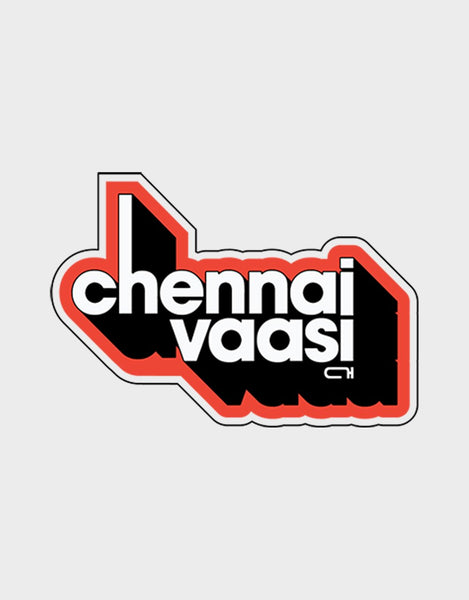 Chennai Vaasi Red Wall Stickers - Angi | Tamil T-shirt | Chennai T-shirt