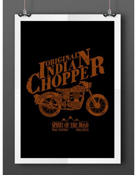 Original Indian Chopper  Poster - Angi | Tamil T-shirt | Chennai T-shirt