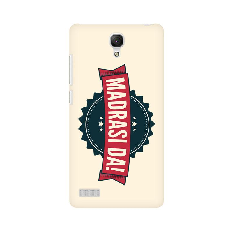 Madrasi da - Redmi note Mobile covers - Angi | Tamil T-shirt | Chennai T-shirt
