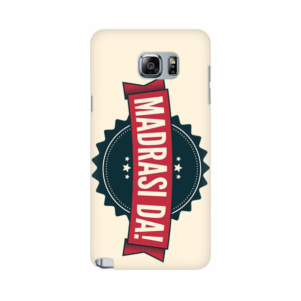 Madrasi da - Samsung note 5 Mobile covers - Angi | Tamil T-shirt | Chennai T-shirt