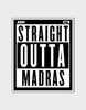 Straight Outta Madras-Stickers - Angi | Tamil T-shirt | Chennai T-shirt