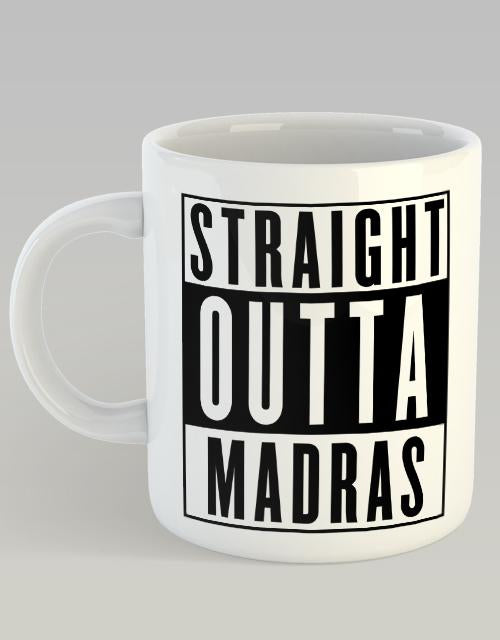 Straight outta madras Coffee Mug - Angi | Tamil T-shirt | Chennai T-shirt