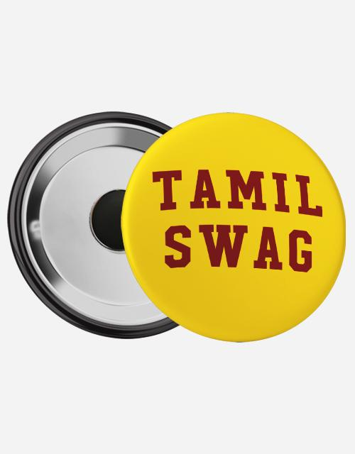 Tamil Swag Magnetic Badge - Angi | Tamil T-shirt | Chennai T-shirt