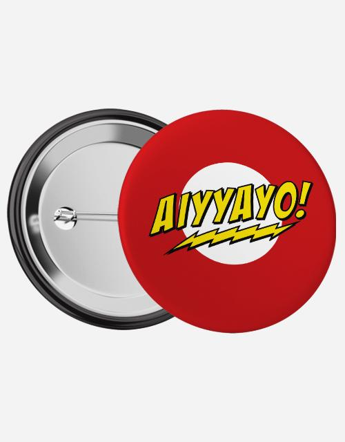 Aiyyayo Pin Badge - Angi | Tamil T-shirt | Chennai T-shirt
