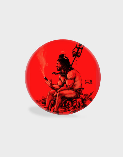 Lord Shiva Red-Pop Socket - Angi | Tamil T-shirt | Chennai T-shirt