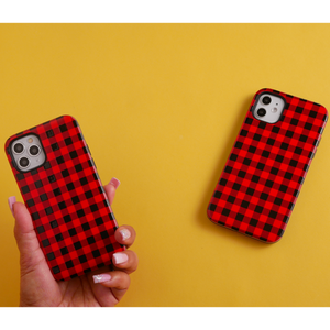Red Plaid iPhone Case | Shockproof