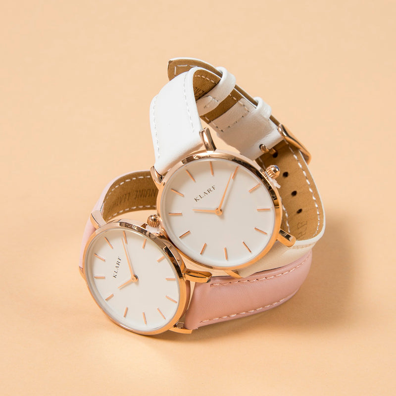 Petit Rose Gold & Pink Leather