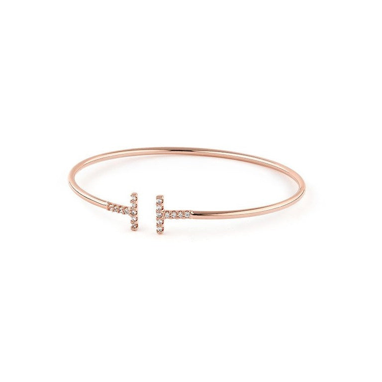 Daisy Crystal Bangle Rose Gold 3