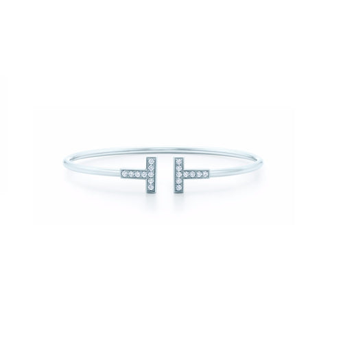 Daisy Crystal Bangle Silver