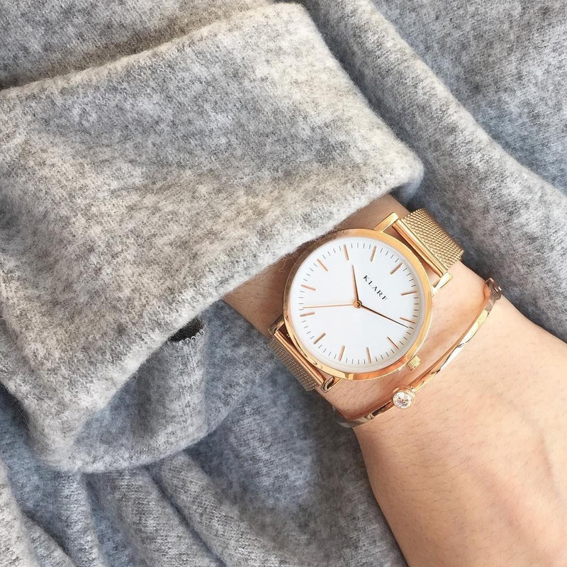 Classic White & Rose Gold 4