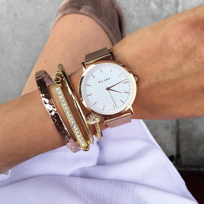 Classic White & Rose Gold 5