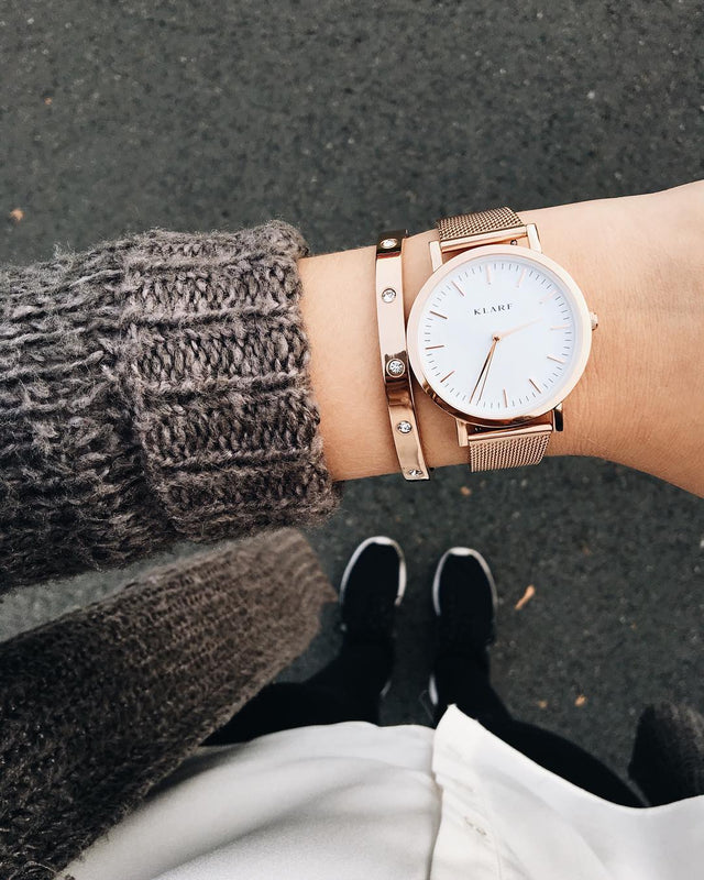 Classic White & Rose Gold 6