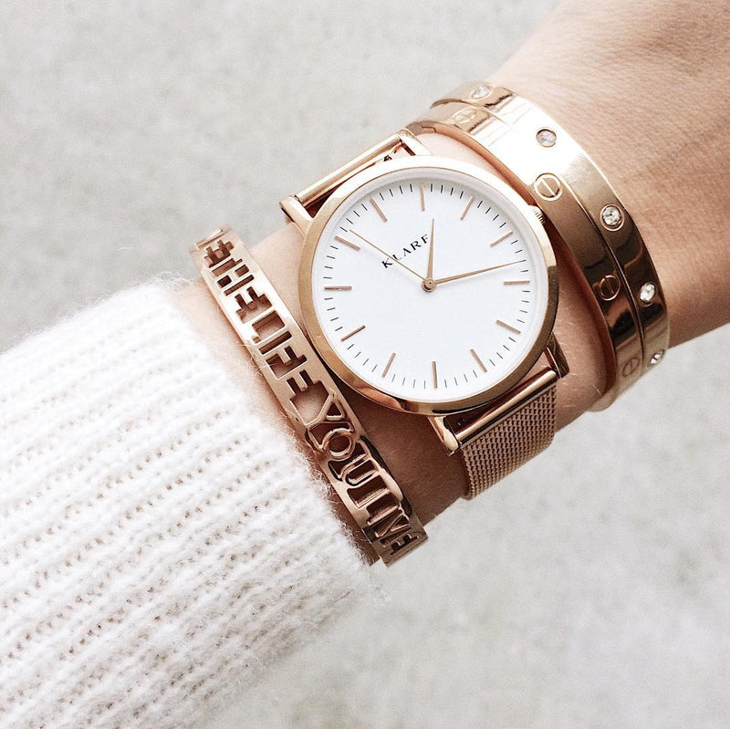 Classic White & Rose Gold 15