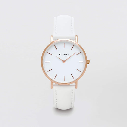 Petit Rose Gold & White Leather