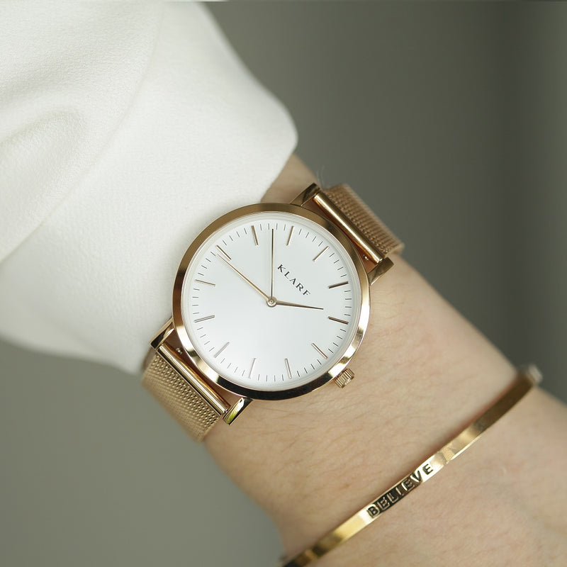 Classic White & Rose Gold 2