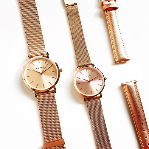 Petit Rose Sunray/Mesh Rose Gold