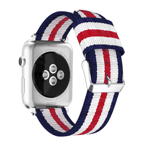 "Apple Iwatch Blå/hvid/rød ""London"" 42/44 mm"