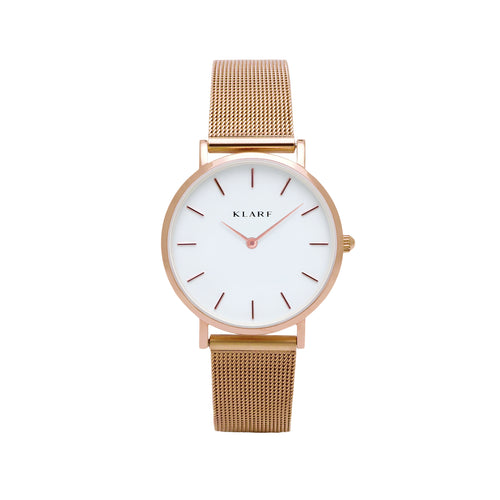 Petit White & Rose Gold Mesh