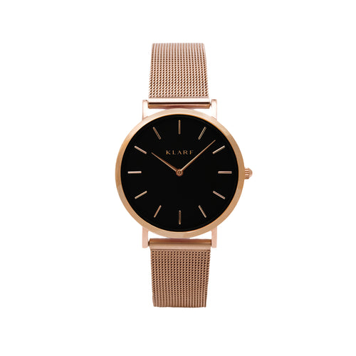 Petit Black & Rose Gold Mesh