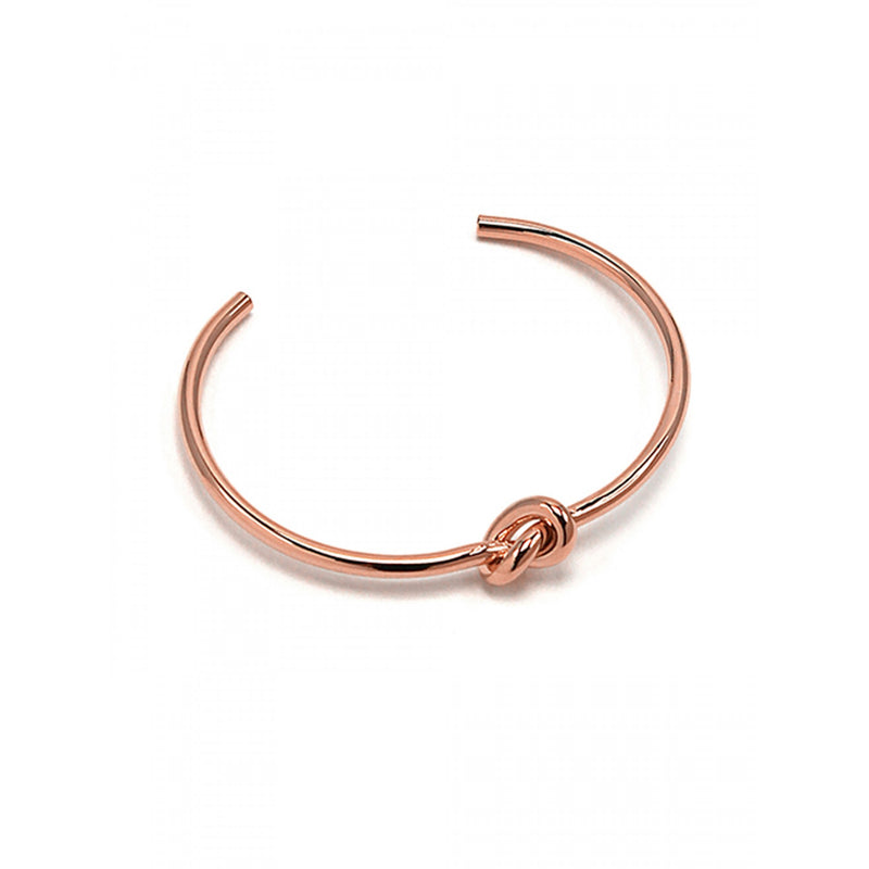 Jolie Knot Bangle Rose Gold
