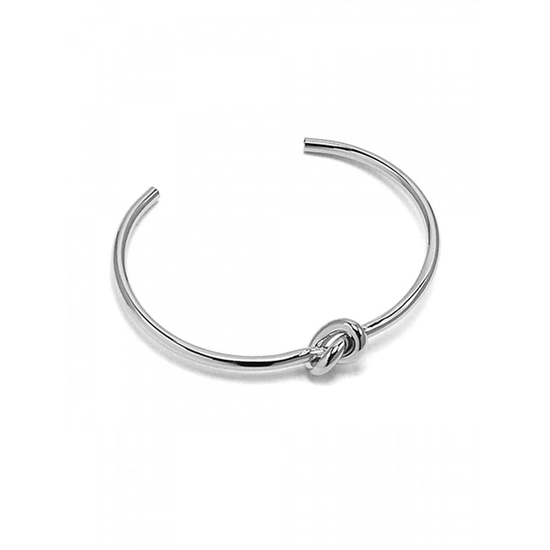 Jolie Knot Bangle Silver