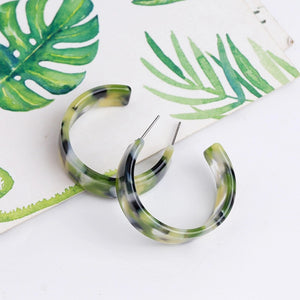 Jungle Hoop Earrings