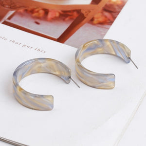 Hazy Hue Hoop Earrings
