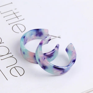 Purple Brights Hoop Earrings