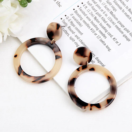 Light Leopard Drop Earrings