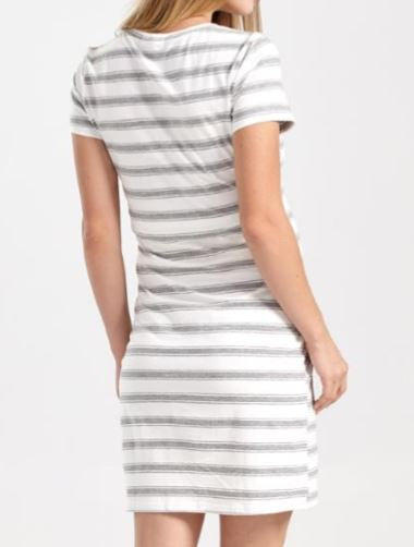 Striped T-Shirt Maternity/Nursing Dress