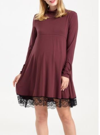 Skater Lace Maternity/Nursing Dress